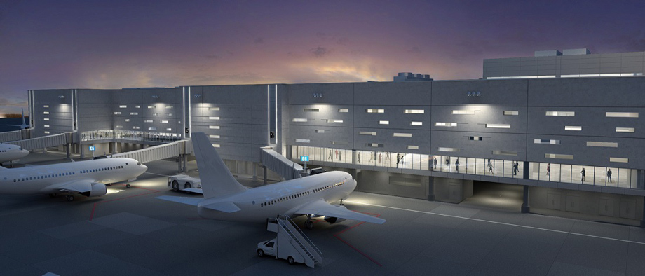 FLL INTL. Airport - Terminal 4 (Plan View)